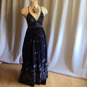 Navy & white maxi sundress in size small by GAP